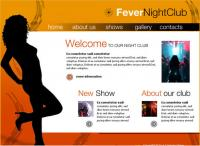 Bar nightlife web site interface