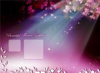 Purple wedding photo template
